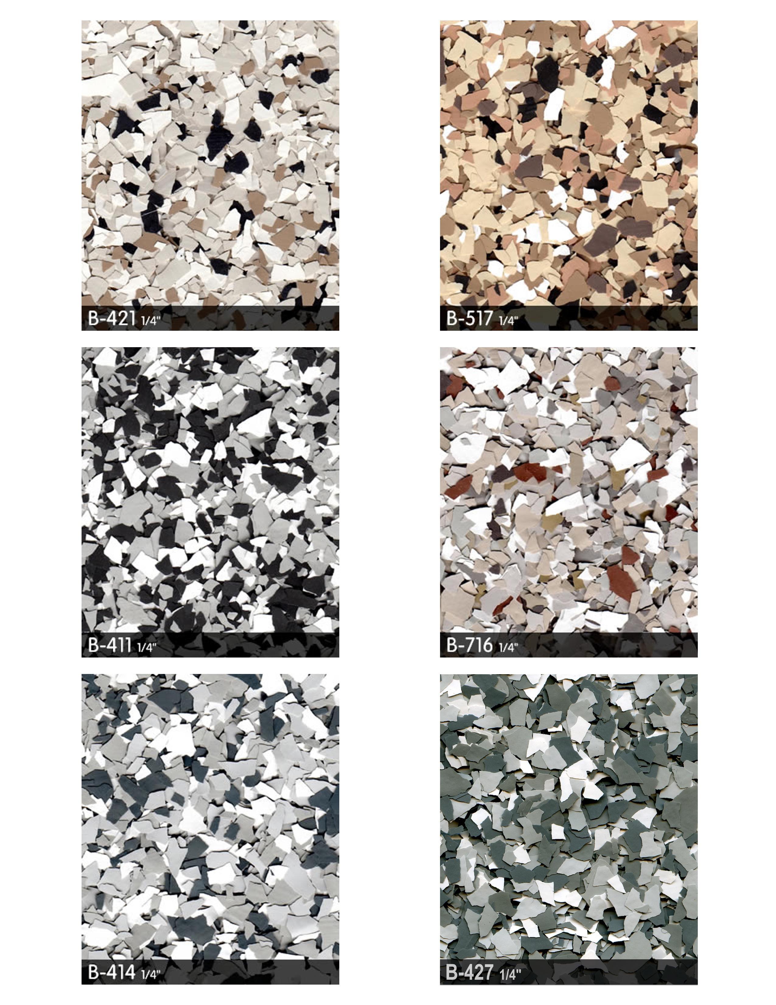 Customcrete Epoxy Flake Floor Color Options