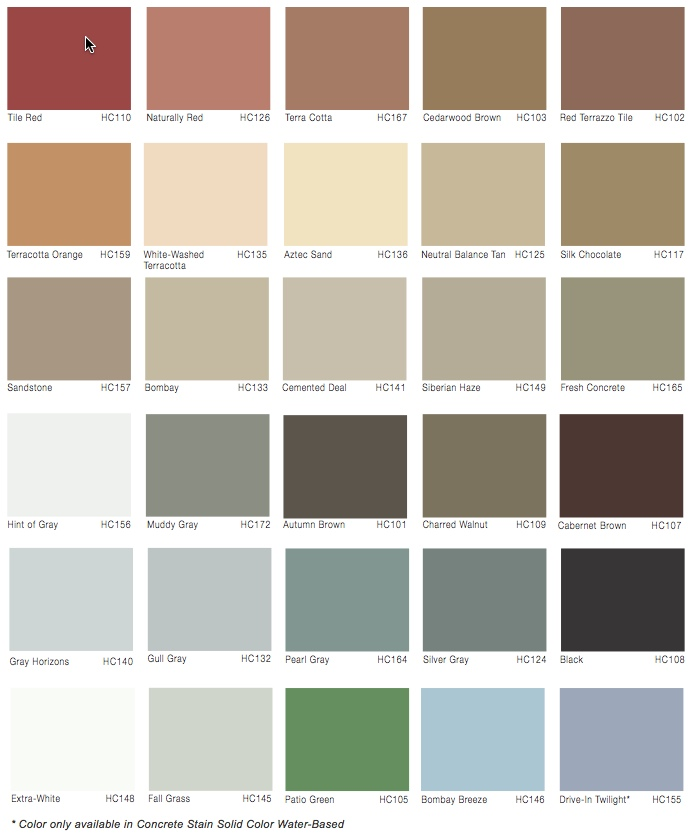 Solid Color Stains Options
