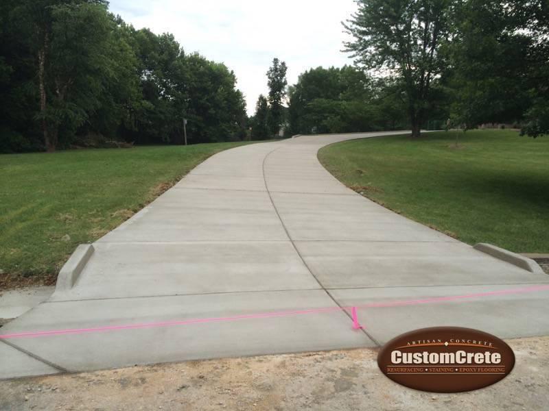 Customcrete Concrete Driveways In St Louis