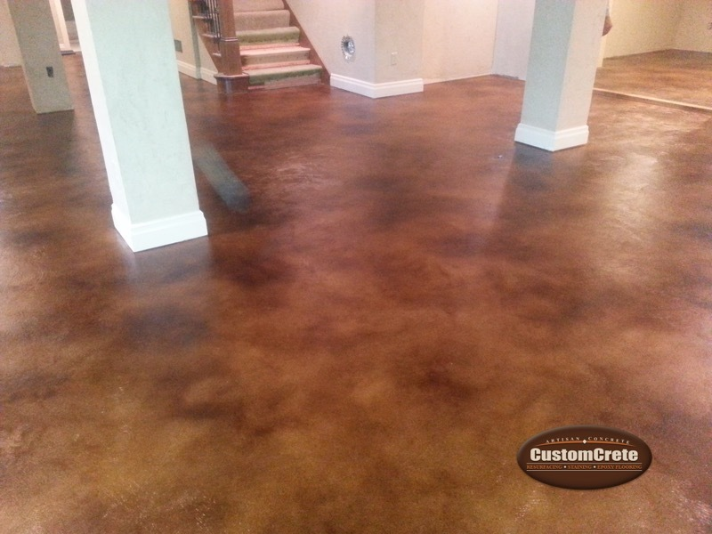 Custom Stained Concrete Floors : Customcrete stained concrete floors st louis mo