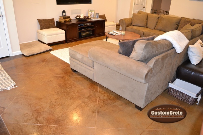 Customcrete Stained Concrete In St Louis Mo